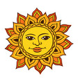 ethnic drawing of the sun vector image