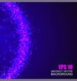 fiolet shining circle border vector image