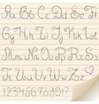 gray alphabet vector image