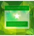 Green infographics options banner vector image