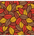 Leafs Seamless Pattern Autumn vector image