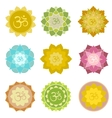 Om symbols isolated vector image