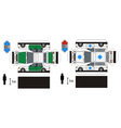 Paper models of police and ambulance cars vector image