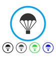 Parachute rounded icon vector image