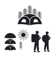 Set of logos or emblems for the campground vector image