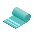 Towel isometric 3d icon vector image