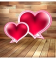 Valentines day card on wood EPS 10 vector image