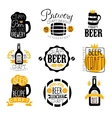 Craft Brewery Set Of Logo Design Templates vector image