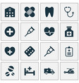 antibiotic icons set collection of tent retreat vector image