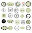 decorative labels set vector image vector image
