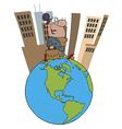 businessman cartoon vector image vector image