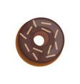 Donut into the glaze cartoon style vector image
