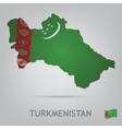 turkmenistan vector image vector image