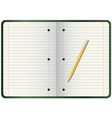 pencil on notebook vector image vector image