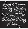 Handwritten days of the week vector image
