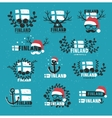 Finland Set of labels vector image