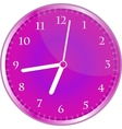 wall clock isolated on white vector image