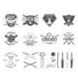 Set of cricket sports logo designs Cricket vector image