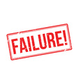 Failure red rubber stamp on white vector image