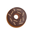 donut into the glaze cartoon style vector image