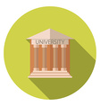 Flat design style concept for University building vector image