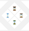 flat icon timer set of hourglass minute measuring vector image