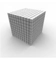Geometric Cube vector image