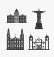 historic monument architecture of brazilian vector image