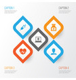 medicine icons set collection of rhythm vector image