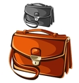 Modern leather briefcase business man vector image