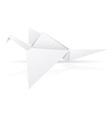 origami paper stork vector image