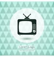 TV icon logo vector image