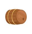 wooden barrel of alcohol drink vector image