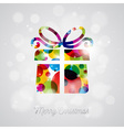 Merry Christmas Holiday with abstract gift box vector image