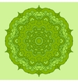 Green Round Decorative Design Element vector image