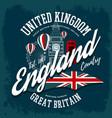 england or britain united kingdom t-shirt print vector image vector image