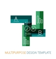 Business stripes presentation design template vector image