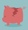 Cracking piggy bank vector image