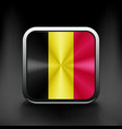 Belgium waving flag national travel icon country vector image