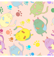 Stylish colorful seamless with cats background vector image vector image