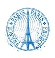 Paris logo design template Eiffel Tower vector image