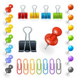 Pins and Paper Clips Collection vector image vector image