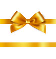 Shiny gold satin ribbon on white background vector image