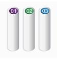 Three bookmarks vector image