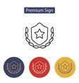 badge icon vector image