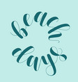 beach days lettering vector image