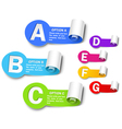 Collection of color labels vector image