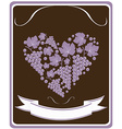 Label for a bottle of wine with grapes vector image