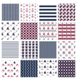 nautical or marine seamless patterns vector image
