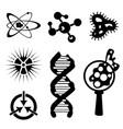 set of science stuff icon lab cartoon icon vector image